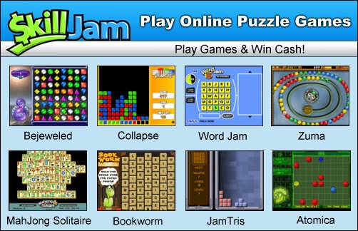 Play Online Puzzles & Win Cash at Skilljam.com!