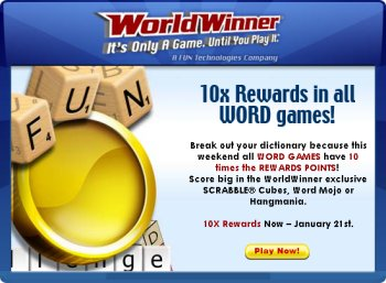 Play Games & Win Prizes at WorldWinner.com
